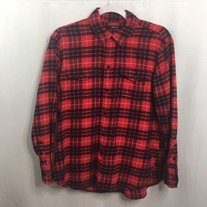 Madewell Flannel Cargo Work Shirt Top Size Small